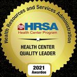 HRSA Health Center Quality Leader 2021 Awardee